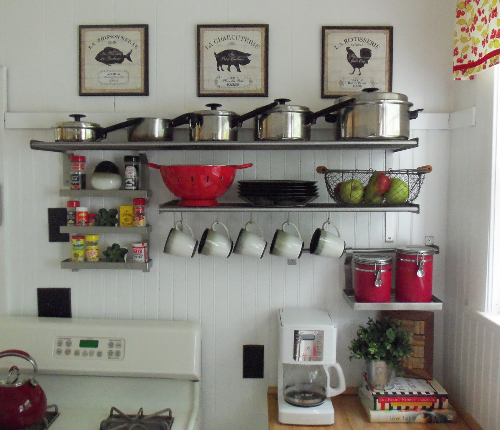 Ikea Grundtal Wall Shelf In Kitchen