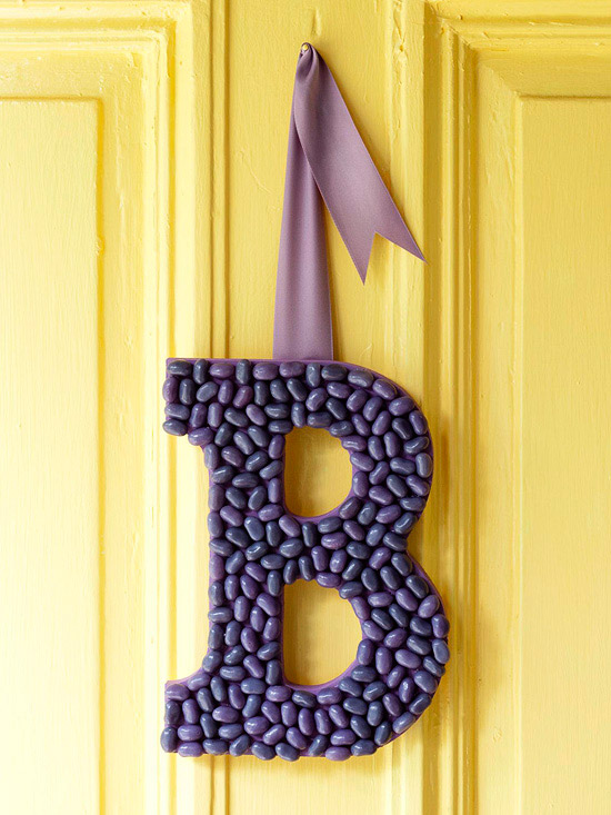 spring letter decoration